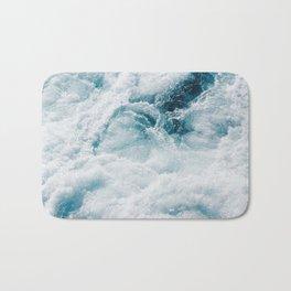 sea - midnight blue storm Bath Mat