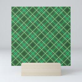 Green Tartan Plaid Mini Art Print