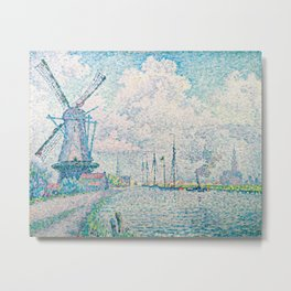 Paul Signac - Canal of Overschie Metal Print