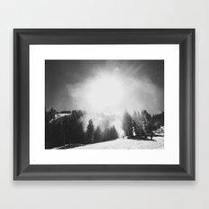 Blowing Snow Framed Art Print