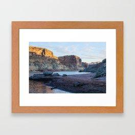 Autumn Morning in Croton Canyon Framed Art Print