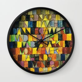Paul Klee Once Emerged from the Gray of Night Wall Clock
