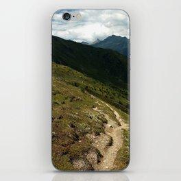 narrow hiking path alps serfaus fiss ladis tyrol austria europe iPhone Skin