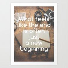 Motivational - New Beginning Art Print