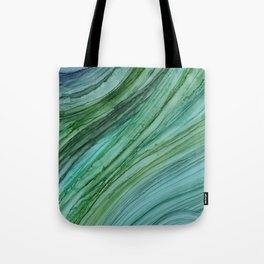 Green Agate Geode Slice Tote Bag
