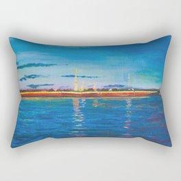 Fortress on the sunset Rectangular Pillow