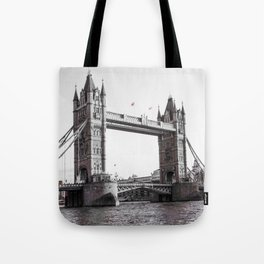 London Bridge Black & White Tote Bag