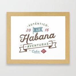 Vintage Havana Cuba Logo Framed Art Print