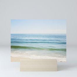 Ocean Seascape Photography, Blue Sea Landscape, Beach Waves Coastal, Seashore Horizon Mini Art Print