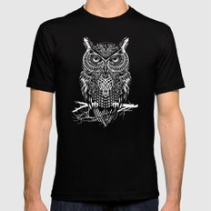 Warrior Owl Night Black X-LARGE Mens Fitted Tee