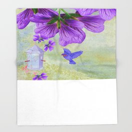 Purple Cranesbill Throw Blanket