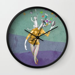 the imaginative robot clown and his cat friend Wall Clock