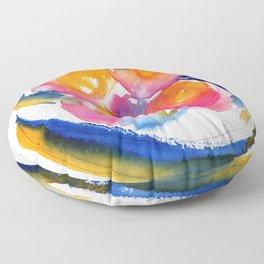Peace Flower watercolor by CheyAnne Sexton Floor Pillow