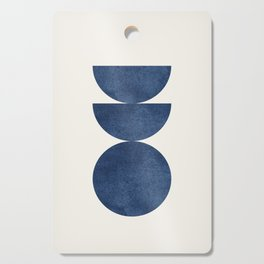 Woodblock navy blue Mid century modern Cutting Board
