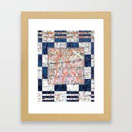 Flight of Color - blue geometric Framed Art Print