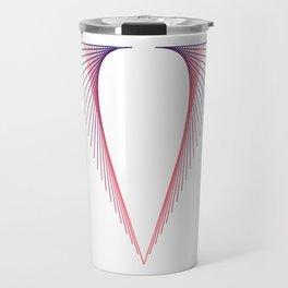 """""""V"""" Drop Cap Travel Mug"""