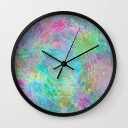 Rainbow Abstract Pattern Wall Clock