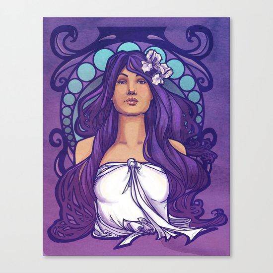 Iris Nouveau Canvas Print