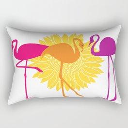 Colorful Flamingos Rectangular Pillow