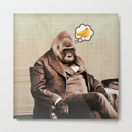 Gorilla My Dreams Metal Print