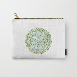 """E"" Eye Test Letter Circle Carry-All Pouch"