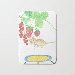 Mouse on a trampoline Bath Mat