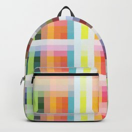 colorful grid Backpack