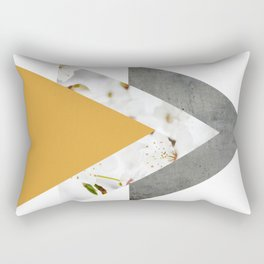 Blossoms Mango Mojito Arrows Collage Rectangular Pillow