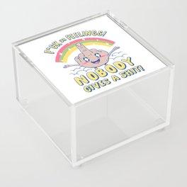 Nobody Gives a Sh*t! Acrylic Box