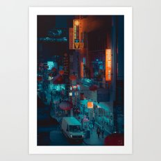 Colours of the Night, Chinatown, Melbourne Art Print