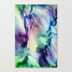 Flow in Blue and Purple Canvas Print