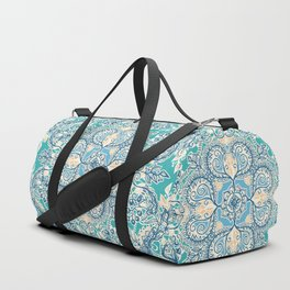Gypsy Floral in Teal & Blue Duffle Bag