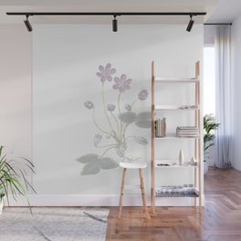 pink violets Wall Mural