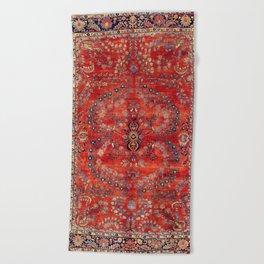 Sarouk Arak West Persian Carpet Print Beach Towel