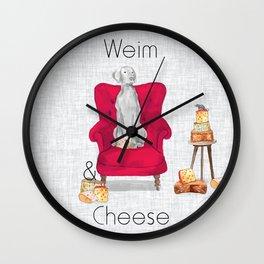 WEIM & CHEESE Wall Clock