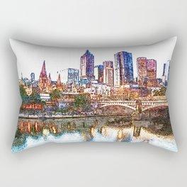 Glow of Melbourne Rectangular Pillow