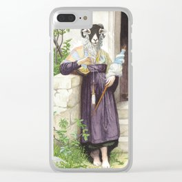 The Sheep Spinner Clear iPhone Case