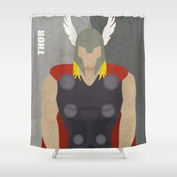 thor Shower Curtains featuring Thor by Loud & Quiet