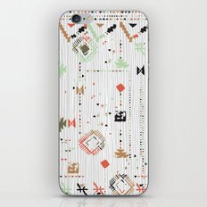 Print with stripes and lines, abstract shapes and dots iPhone & iPod Skin