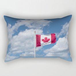 Maple Leaf Flag Flying High Rectangular Pillow