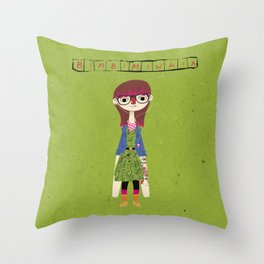 """Bimbiminkia"" - Hipster Throw Pillow"