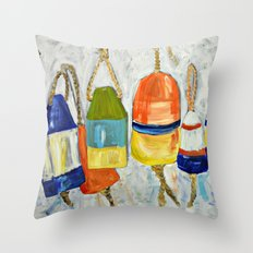 Lobster Buoys Throw Pillow