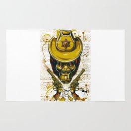 Monkey Cowboy Skull with Twin Guns Rug