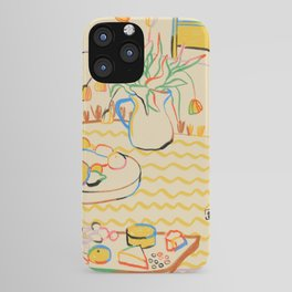 YELLOW TULIPS, WINE AND CHEESE iPhone Case