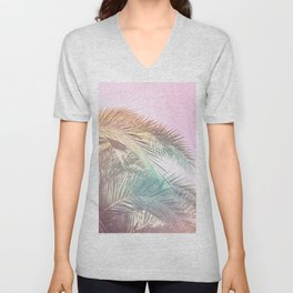 Wild palm leaves Nostalgia Unisex V-Neck