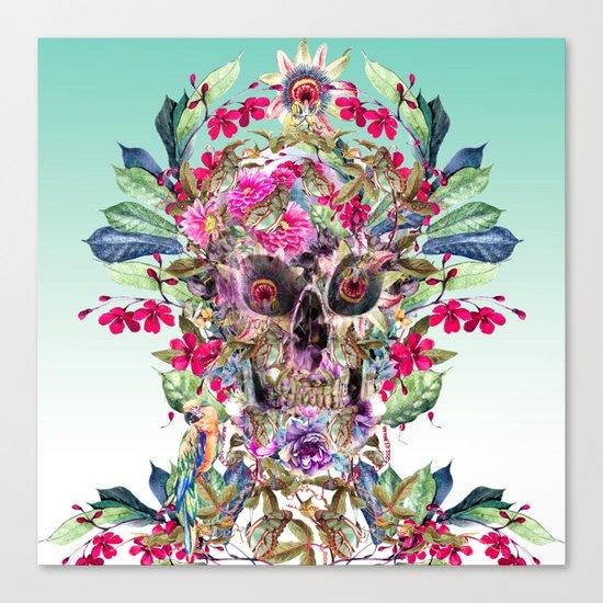Momento Mori Floral Canvas Print