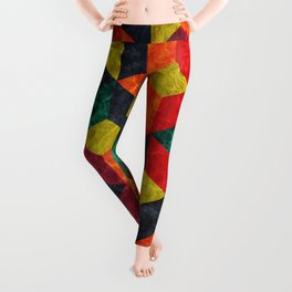 Colorful Isometric Cubes IV Leggings
