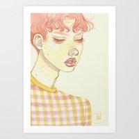 Bubblegum Boy Art Print