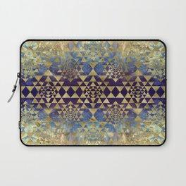 Sri Yantra  / Sri Chakra Pattern - Gold and Marble Laptop Sleeve