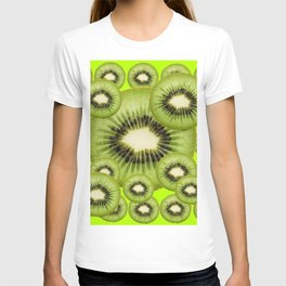 GREEN KIWI SLICES MODERN ART T-shirt
